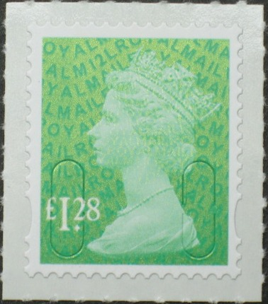 2012 GB - SGU2934-12 £1.28 Emerald Green (D) 2B M12L Mrginal MNH